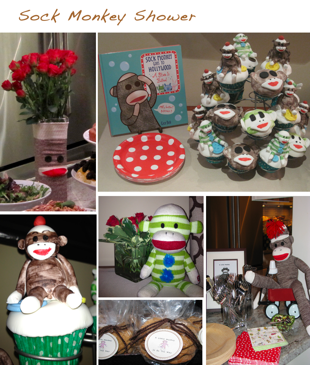 sock monkey baby shower decorations best baby decoration
