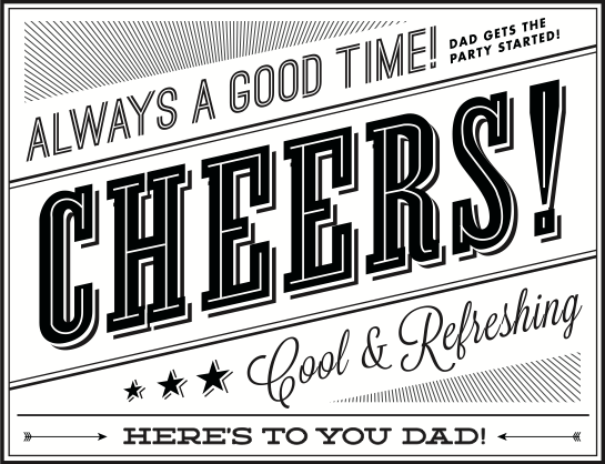 Father's Day Beer Labels
