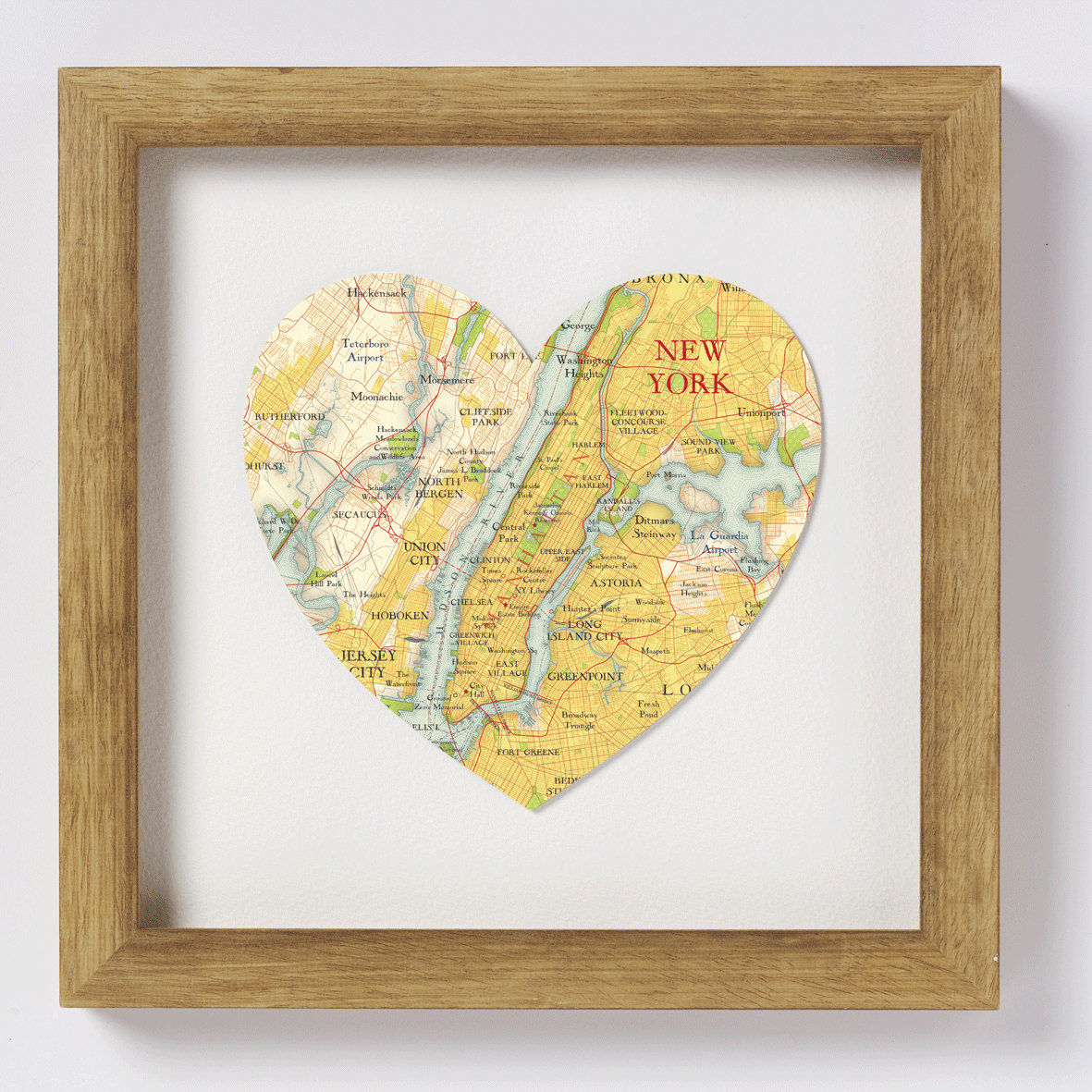 DIY heart map art thoughtful valentine's day gift ideas