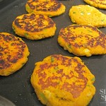Sweet Potato Cakes with Yogurt Sauce | www.StylishSpoon.com