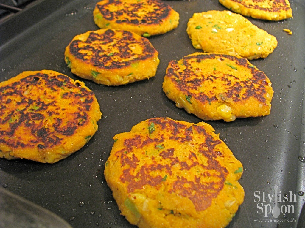 Recipe Sweet Potato Corn Cakes With Yogurt Sauce