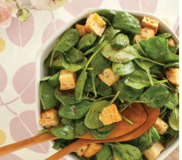 simple spinach salad winter