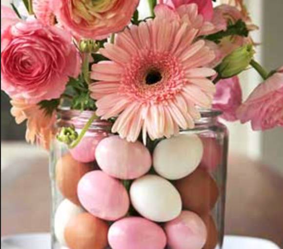 Easter Egg Vase Filler Flower Centerpiece