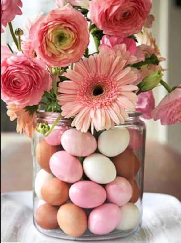 Easter Egg Vase Filler Flower Centerpiece