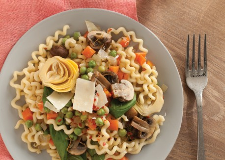 healthy vegetarian spring pasta menu dinner party special impressive