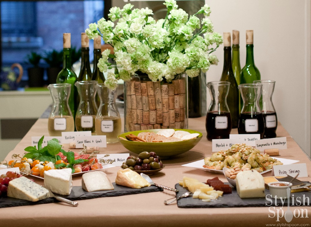 Wine and cheese tasting party :: Stylish Spoon