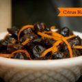Citrus Black Olives - great for Halloween or for any winter cocktail party | www.StylishSpoon.com