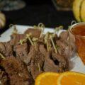 Orange-Soy Steak Skewers   www.StylishSpoon.com