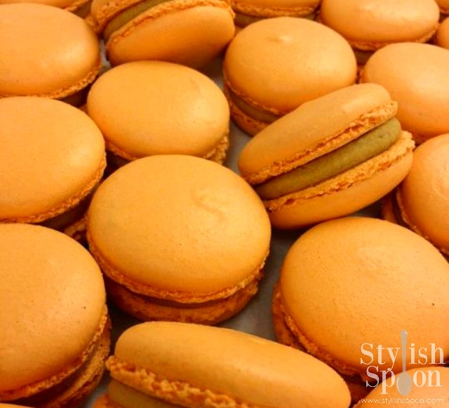 Pumpkin Pie Macarons from Thomas Keller's Bouchon Bakery in NYC - best macaron ever | Stylish Spoon