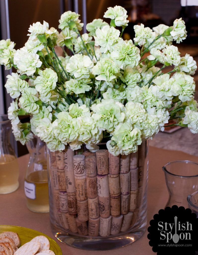 DIY Wine Cork Vase Filler | www.StylishSpoon.com