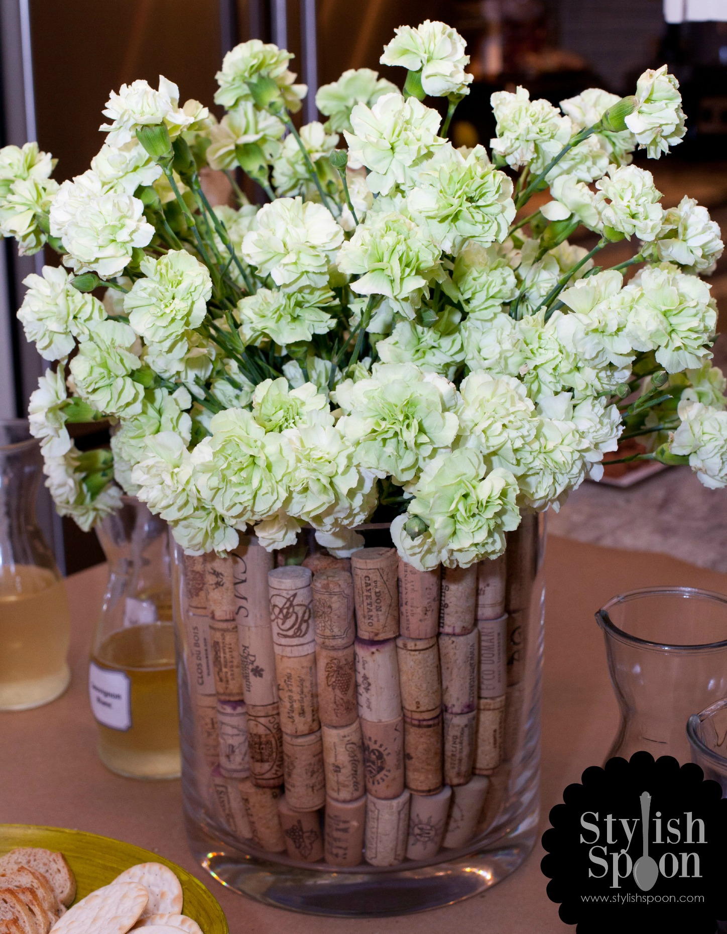 Diy wine cork vase filler stylish spoon