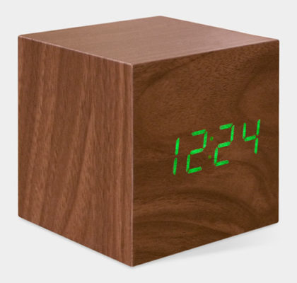 Modern Cube Clock from MoMa Store - Stylish Spoon 2013 Holiday Gift Guide | www.StylishSpoon.com
