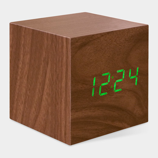 Gift guide cube clock moma store stylish spoon for Cool nightstand clocks