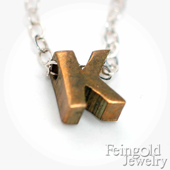 Sarah Feingold Brass Initial Necklace - a steal at $18 - Stylish Spoon 2013 Holiday Gift Guide | www.StylishSpoon.com