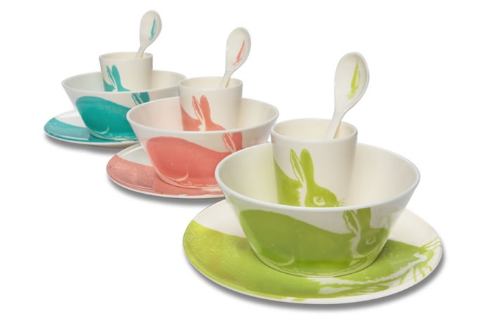 Thomas Paul Melamine Bunny Dish Set in Kiwi - great holiday gift for kids - Stylish Spoon 2013 Holiday Gift Guide - www.StylishSpoon.com