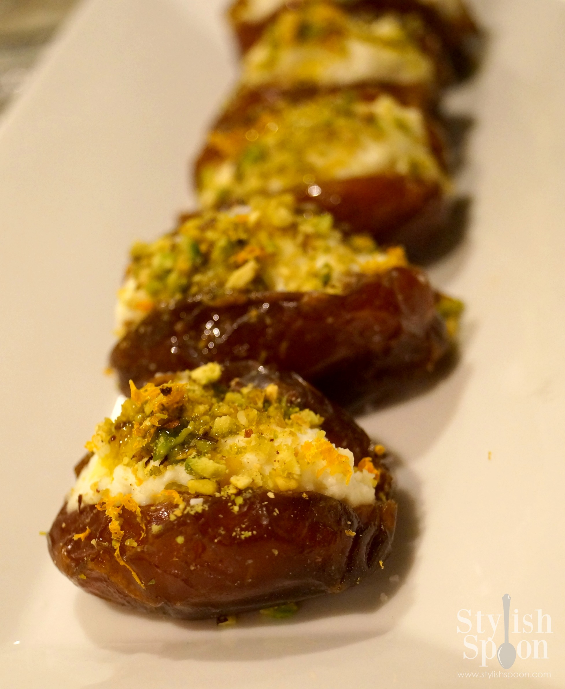 Ricotta & Pistachio Stuffed Dates