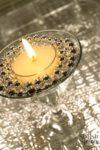 DIY Beaded Tea Light Candle Holder | www.StylishSpoon.com