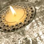 DIY Beaded Tea Light Candle Holder   www.StylishSpoon.com