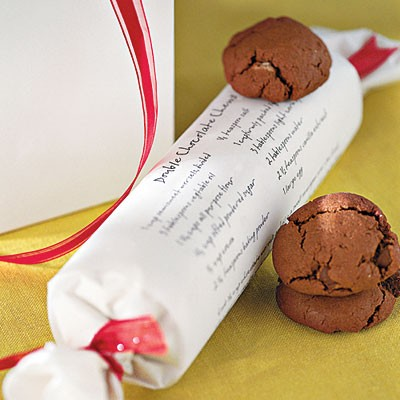 Edible Gifts Wrapped in Printed Recipe Paper | www.StylishSpoon.com