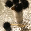 DIY Sparkly Pom Pom Toothpicks & Holder | www.StylishSpoon.com