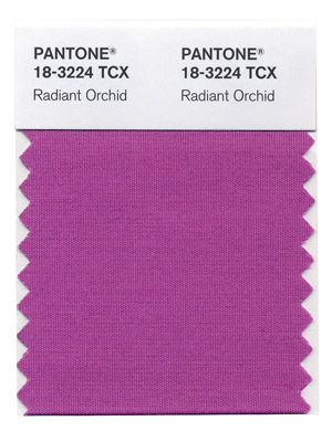 pantone radiant orchid color of the year 2014 swatch