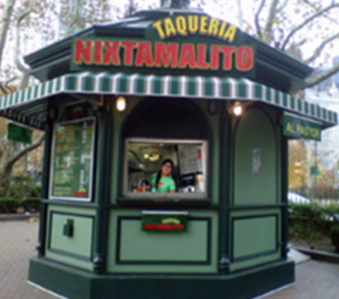 Taqueria Nixtamalito Taco Stand in NYC at City Hall