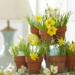 Cupcake Stand Flower Pot Centerpiece | stylishspoon.com