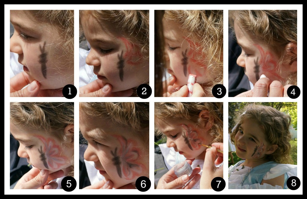 How to Butterfly Face Painting Collage | stylishspoon.com