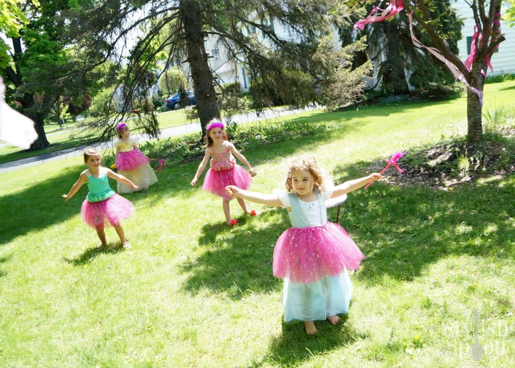 princess birthday party pink tutus