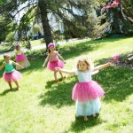 princess birthday party pink tutus