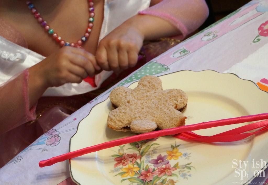 princess birthday tea party food sandwich cookie cutter flower crustless cutout