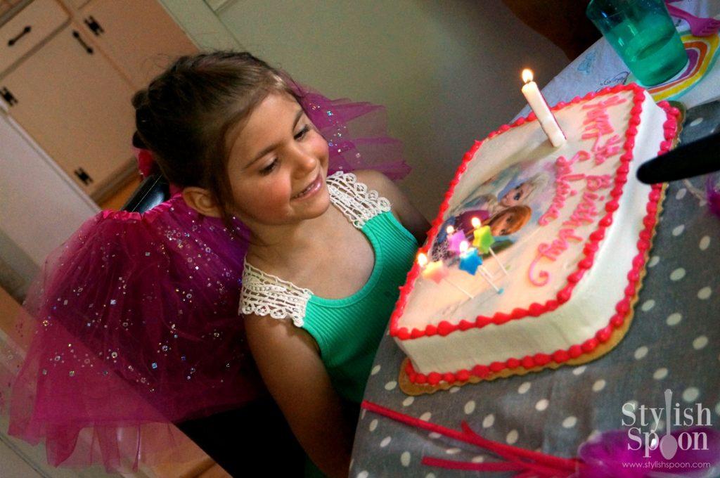 pink princess tea party Disney frozen birthday cake