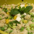 Spring Quinoa Salad with Peas, Mint & Pecorino | stylishspoon.com