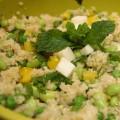 Spring Quinoa Salad with Peas, Mint & Pecorino | stylishspoon.com