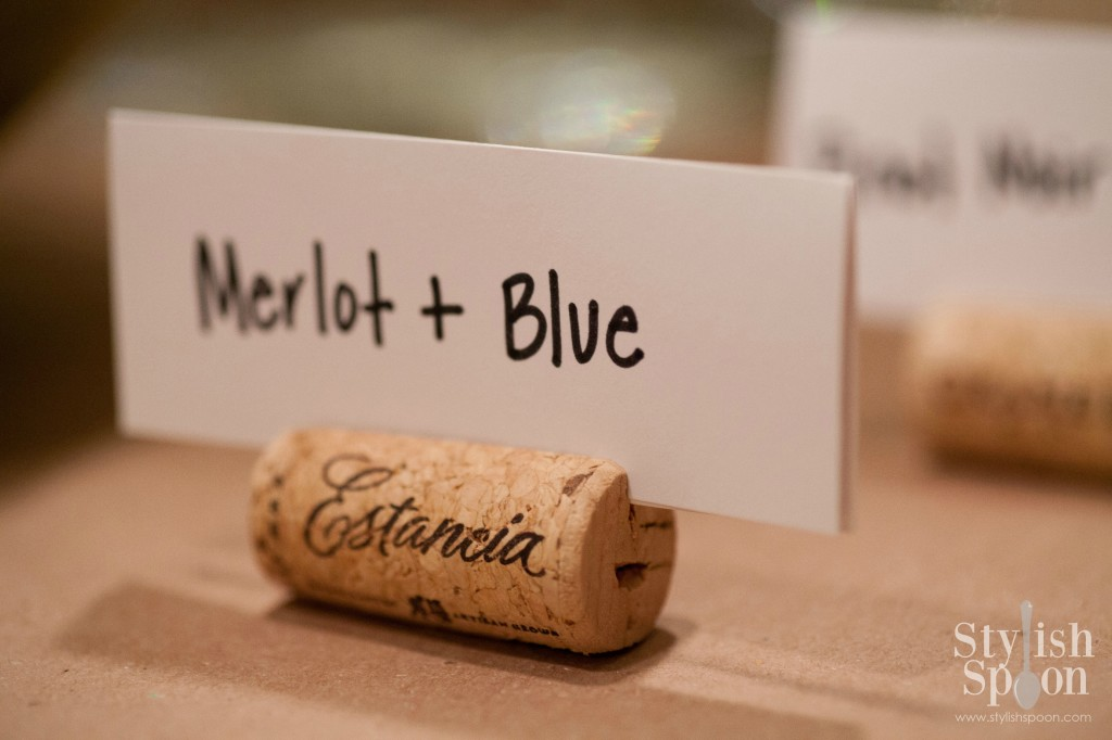 wine cork place card holders (merlot)