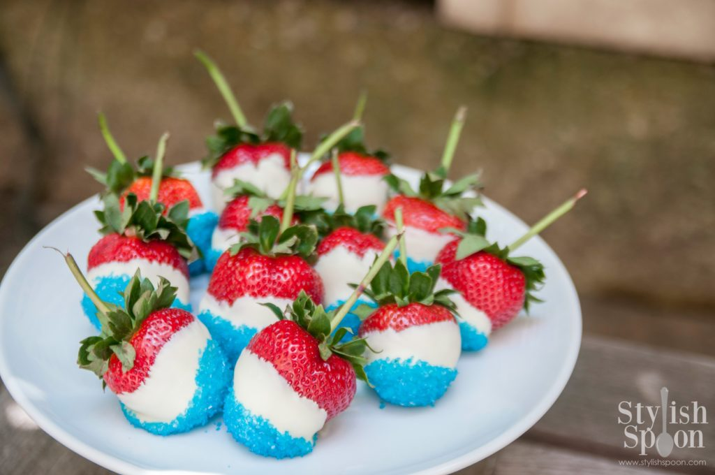 4th of july dessert strawberries