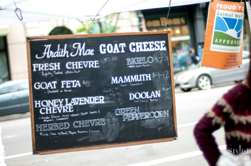Friday Find NYC: Ardith Mae Goat Cheese at UWS Farmer's Market on 80th and Columbus | stylishspoon.com