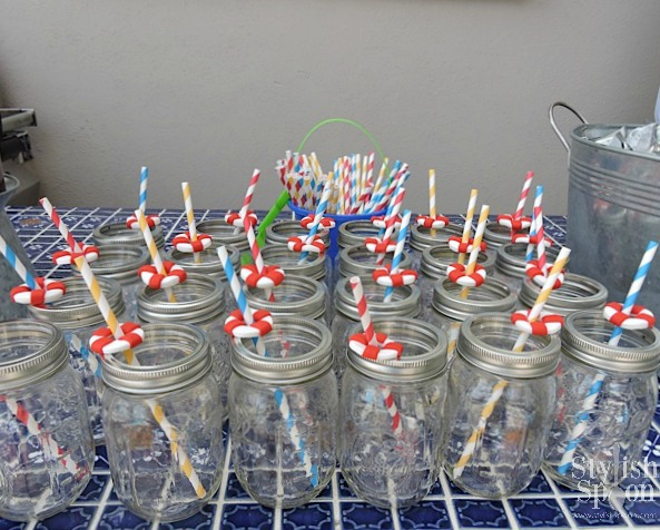 pool party fondant buoy drink straws
