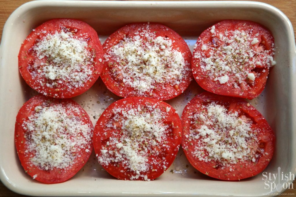 parmesan baked tomatoes - healthy summer recipe