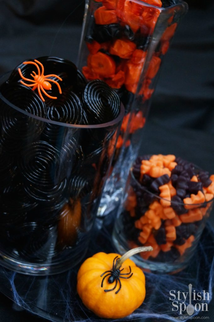 halloween candy black and orange