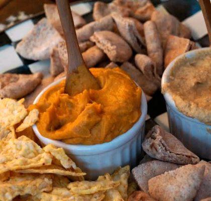 Vegan sweet potato spread thanksgiving organic healthy appetizer