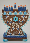 Gingerbread Menorah Kit - Hanukkah Gift Idea for the whole family, hostess gift