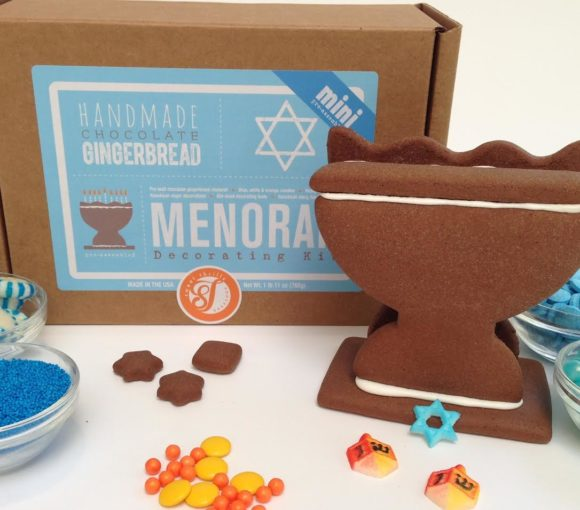 gingerbread menorah kit holiday gift idea Hanukkah