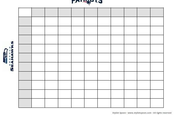 <em> DIY </em> :: 2015 Super Bowl Football Betting Squares {Free Printable}