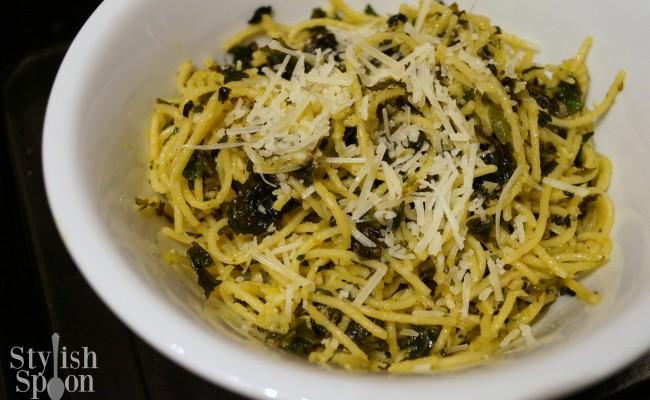 <em> Recipe </em> :: Lemony Kale Quinoa Spaghetti