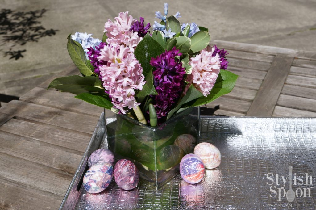 Dye Easter Eggs with Silk Fabric Scraps