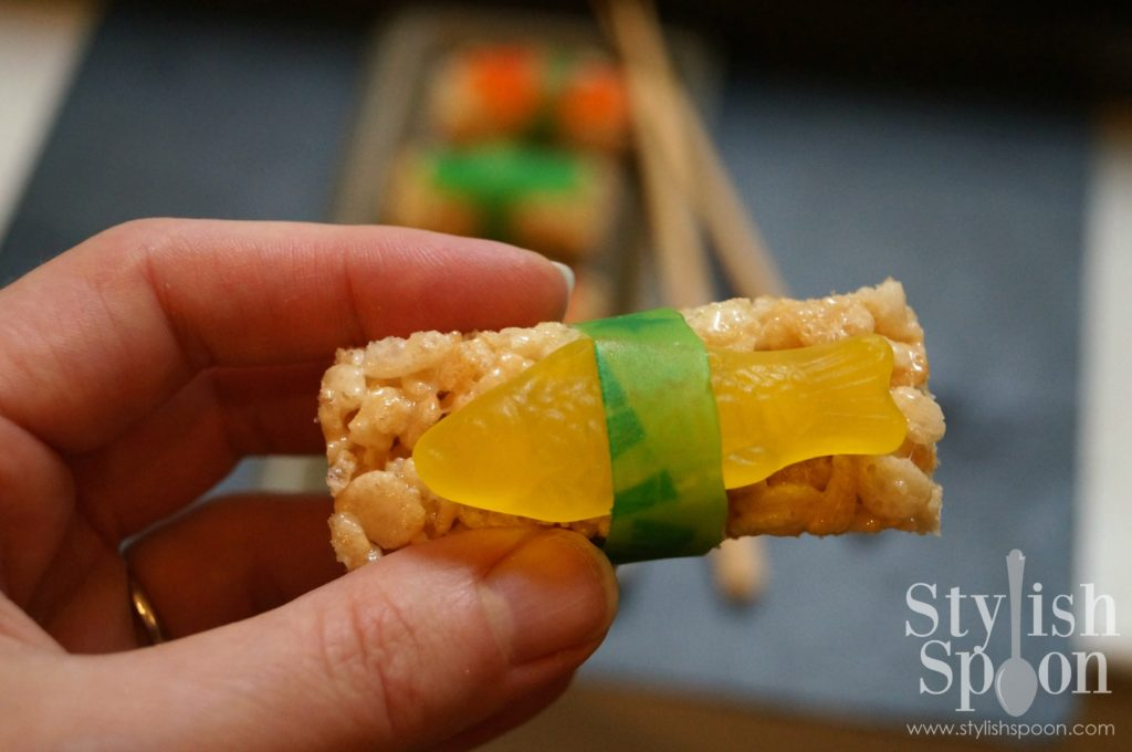 Sushi Rice Krispies Treats Candy Sushi Kids Parties Bake Sale