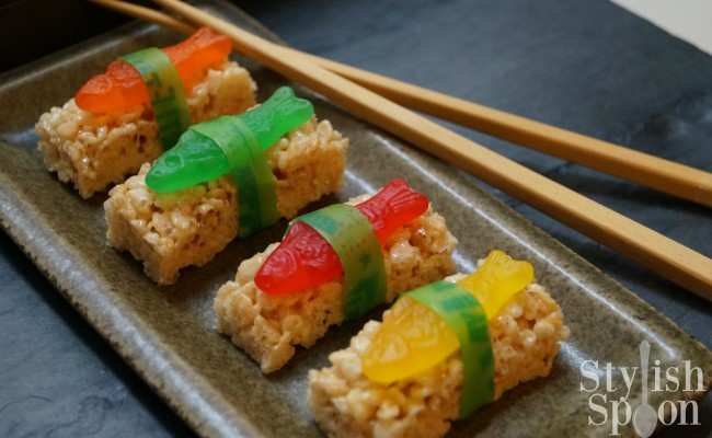 <em> Kids Parties </em> :: &#8220;Sushi&#8221; Rice Krispies Treats