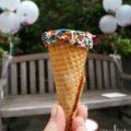 sprinkle ice cream cones