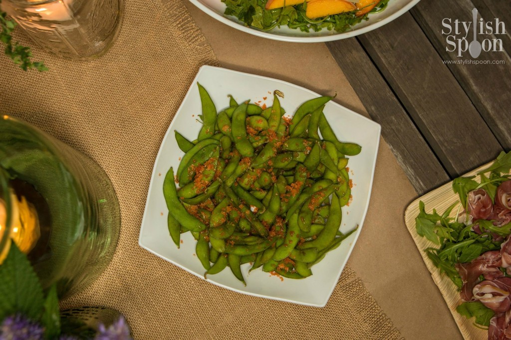 Ladies Night Edamame with Sriracha Sea Salt